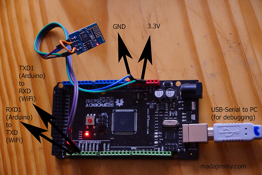 Arduino Mega to ESP8266 connection